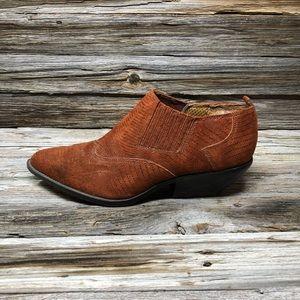 Vintage Zodiac Dazey Burnt Leather Suede Boots